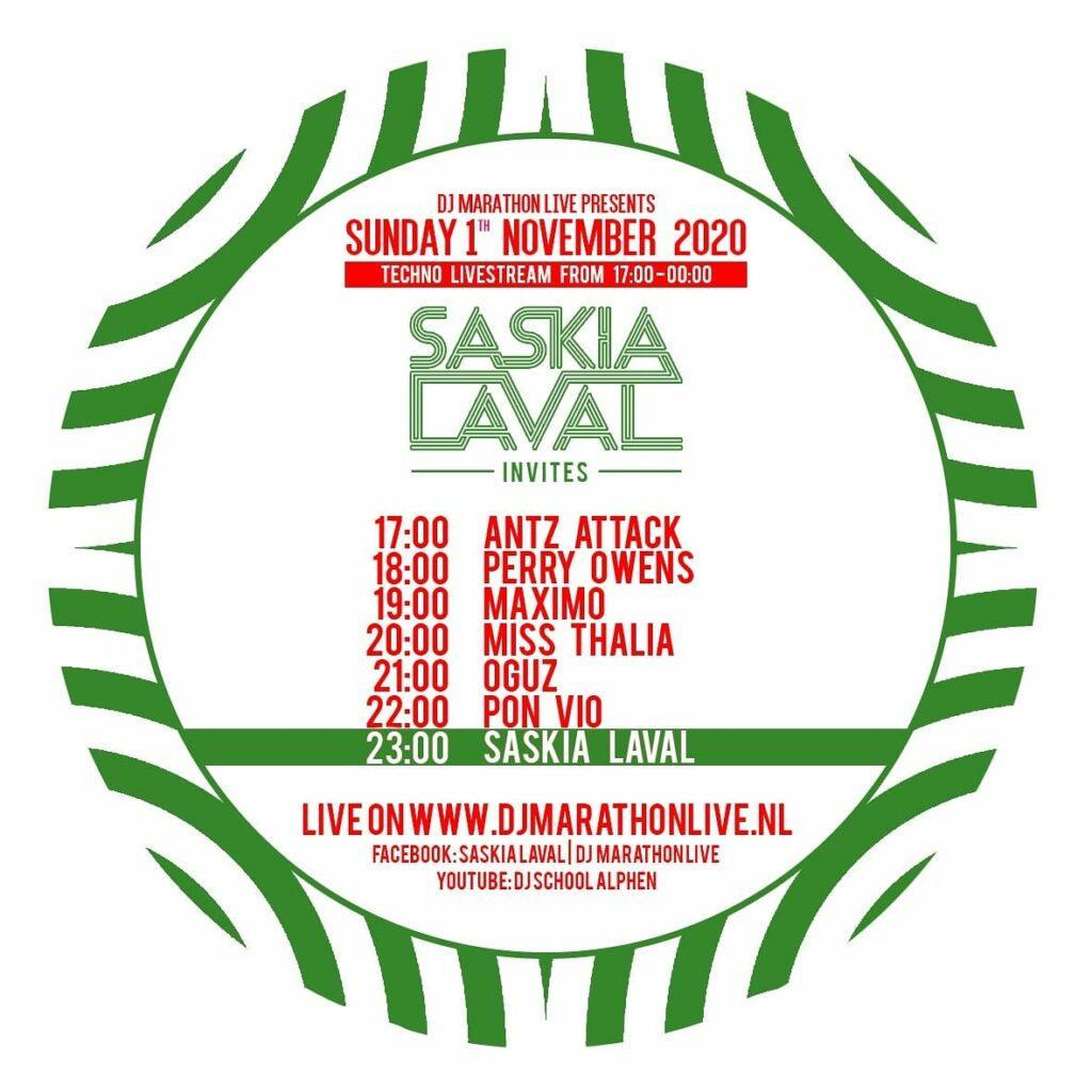 Lineup - LAVAL Invites 1 nov. 2020